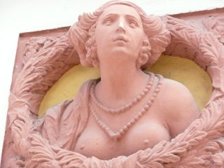 Plastik am Alten Schloss in Bayreuth