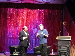 Stephen King und Denis Scheck