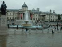 Trafalgar Square im Regen