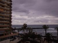 Blick vom Balkon nach Westen um 07.30 Uhr