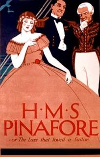 Plakat zur Operette H.M.S. Pinafore