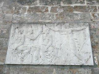 Szene aus dem Fliegenden Holländer an der Stadtmauer in Bayreuth