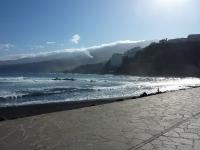 Blick nach Osten von der Strandpromenade aus
