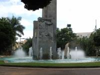 Brunnenfigur im Parque Gareia Sanabria