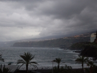 Blick vom Balkon nach Osten um 07.45 Uhr
